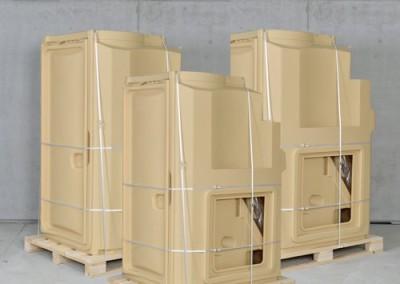 Logistik Sani Solar - Eine Trocknungstoilette pro Palette