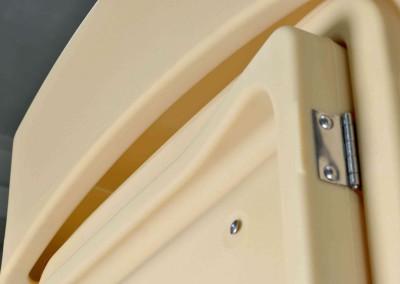 ventilación frontal entre tejado y cabina